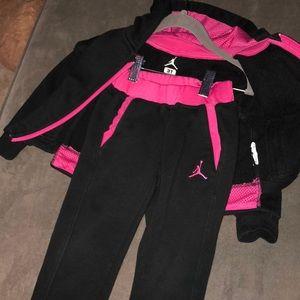 Jordan Black And Pink Sweatsuit | Poshmark